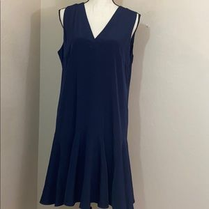 J crew lined polyester summer dress medium